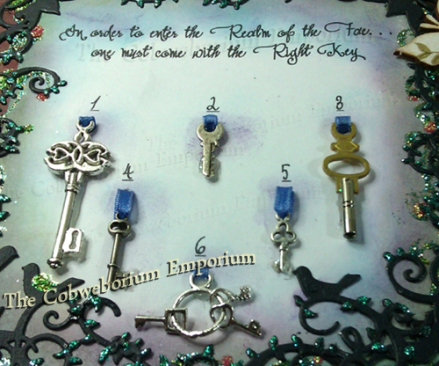 In order to enter the realm of the fae, ... one must come with the right key! Can you pick out the right key?