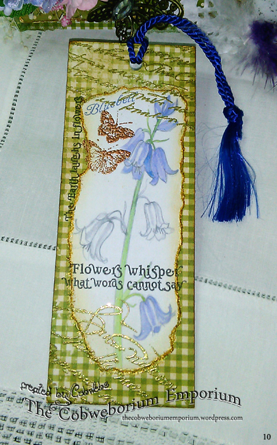 One side of the bookmark