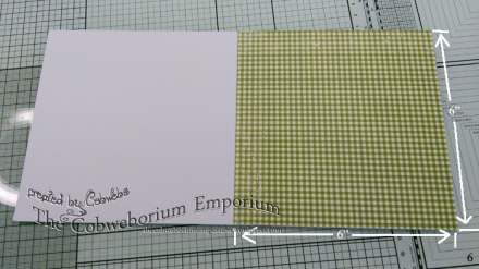 Showing you the white base card, with the gingham mounted on top.